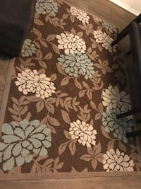 brown and white floral area rug Fairfax, 22033