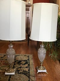 Very old antique lamps whit  crystal and bras , marble 2 lamps . Nashville, 37214