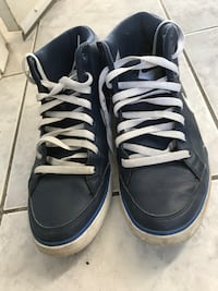 Pair of blue high-top sneakers Vancouver, V5X 1J1