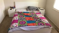 white, pink, and green floral bed sheet Essex, 21221