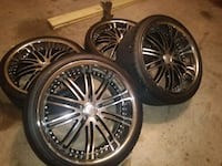 "22"" Offset Rims and Tires  Houston"