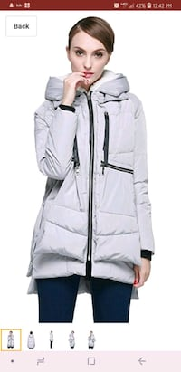 women's white zip-up jacket Woodbridge, 22192