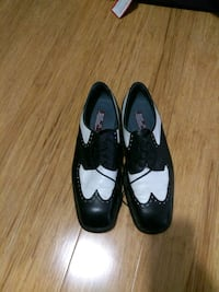 11 pair of black leather shoes Montreal, H4G 2Y7