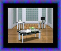 3pc glass coffee table Greenbelt, 20770