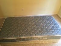 Twin size mattress and box spring