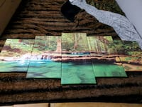 5 piece stretched waterfall canvas