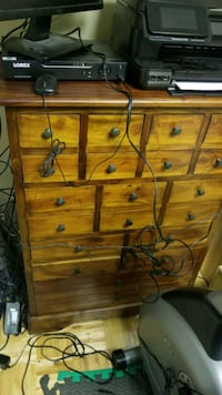 All wood apothecary drawer chest.  REDUCED