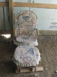 Rocking glider chair with foot stool Thurmont