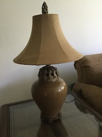 brown and white table lamp 2410 mi
