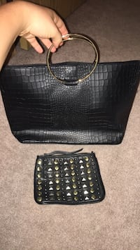 Handbag + matching makeup bag Calgary, T3K 5A2