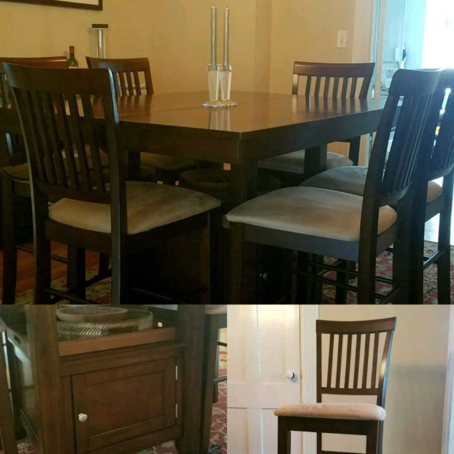 Counter Height Dining Set - 9 piece set