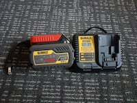 black and yellow Dewalt battery charger
