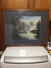 Brown wooden framed painting of trees Keithville, 71047