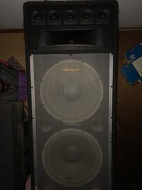 Gray and black speaker system excellent condition