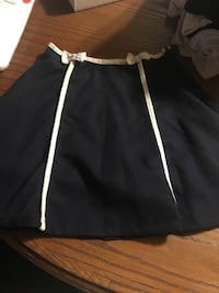 black midi skirt with white trim null, L2G 6X6