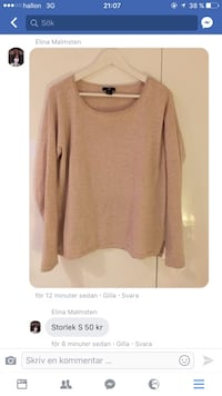 Brun scoop neck sweatshirt skärmdump
