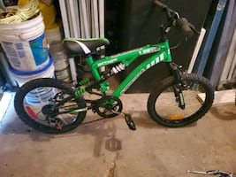 "Boys bike 18"" dual suspension"