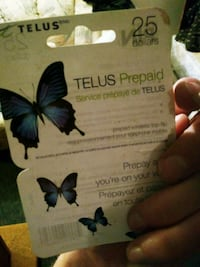 25$ Telus dollars prepaid phone Winnipeg, R2N