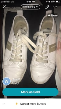 pair of white Adidas low-top sneakers Los Angeles, 91605