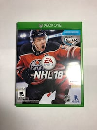 NHL 18 Xbox one  Kitchener, N2R 1C6