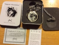 Wolf Pocket Watch in Keepsake Tin- Exclusive Edition. Sainte-Anne-de-Bellevue, H9X 4B1