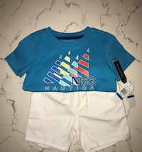 Brand new with tags NAUTICA 24 months 2 piece Graphic T-Shirt & Shorts Set Palmdale, 93550