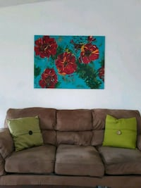 Painting of flower in canvas Salem, 97304