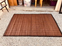 Brown and black bamboo rug Castroville, 78009
