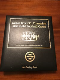 Steels 22kt gold football cards Super Bowl XL