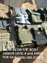 Certified Level 4 Body Armor MIL-A-46100 New FREE VEST WITH PURCHASE