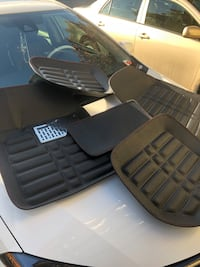 Leather car floor mats