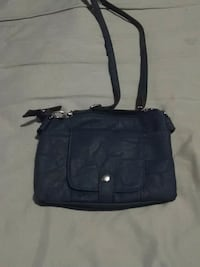 Blue leather purse Clearfield