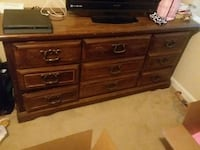brown wooden 9 drawers Greensboro, 27410
