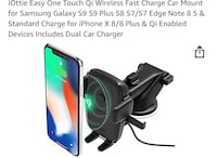 Easy One Touch Wireless Fast Charging Dash & Windshield Mount Toronto, M5M 1Y3