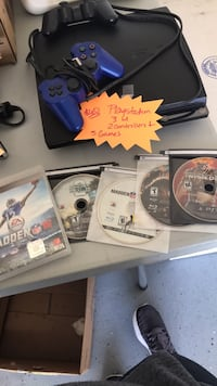 PS3 w/2 controllers and 5 games  Broussard, 70518