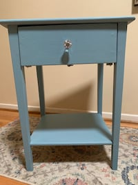Small Blue Wooden Table