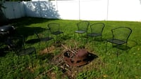 6 all metal chairs, freshly  painted hammered black chairs York, 17406