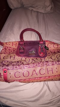 pink and brown leather handbag Fairfax, 22031
