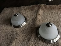 two gray framed dome ceiling lights Pequea, 17565