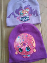 Paw patrol winter hat and  cartoon purple hat 3.00 Lake
