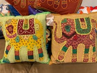 2 new handmade elephant pillows with cushions.  Lutherville Timonium, 21093