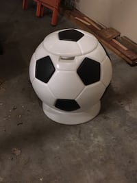 Soccer ball toy chest