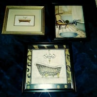 Set of 3 bathtub decorative pictures Atlanta, 30340
