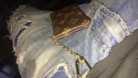 brown Louis Vuitton Monogram Canvas leather wristlet Toronto, M3A