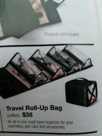 Travel roll up bag