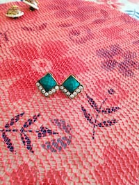 pair of silver-and-blue earrings Los Angeles, 91343