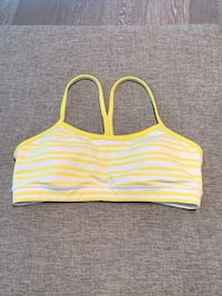 Lululemon White and Yellow Sports Bra, Size M Toronto, M6J