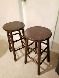 Two Brown stools. Price for both Centreville