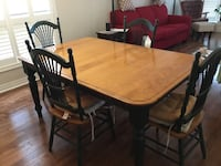 rectangular brown wooden table with four chairs dining set Thorold, L2V 5C4
