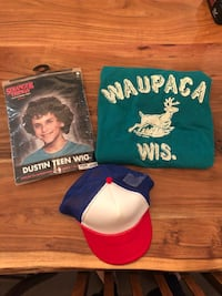 Stranger Things Dustin Costume; hat, wig, shirt Toronto, M6H 3W3